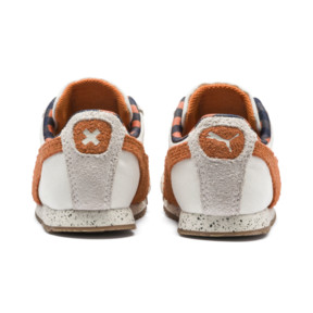 Thumbnail 4 of PUMA x TINYCOTTONS Roma LDN Baby Trainers, White Asparagus-Orange-Blue, medium
