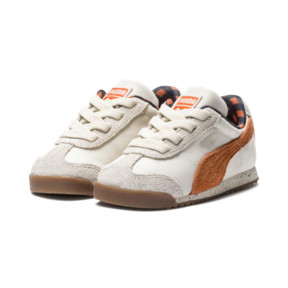 Thumbnail 2 of PUMA x TINYCOTTONS Roma LDN Baby Trainers, White Asparagus-Orange-Blue, medium