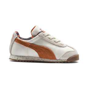 Thumbnail 5 of PUMA x TINYCOTTONS Roma LDN Baby Trainers, White Asparagus-Orange-Blue, medium
