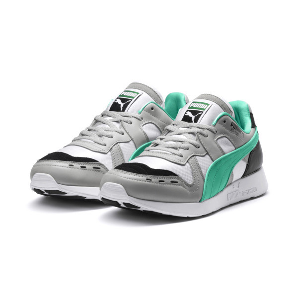 RS-100 Re-Invention Sneaker, GrayViolet-BiscayGreen-White, large