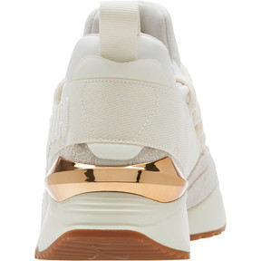 Thumbnail 4 of Muse Maia Util Women's Sneakers, White-Metallic Bronze, medium