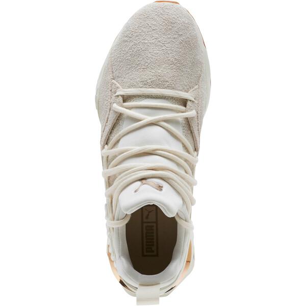 Muse Maia Util Women's Sneakers, White-Metallic Bronze, large