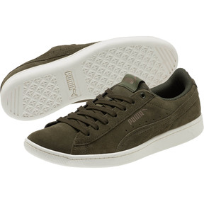 Thumbnail 2 of PUMA Vikky All-Over Suede Women's Sneakers, Forest Night-Metallic Bronze, medium