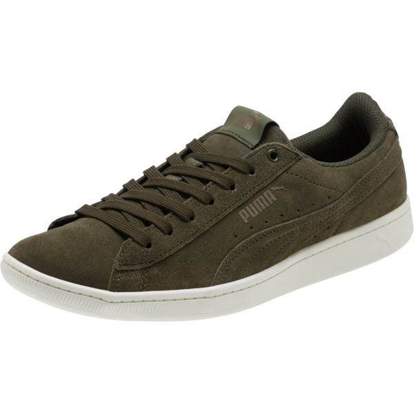 PUMA Vikky All-Over Suede Women's Sneakers, Forest Night-Metallic Bronze, large