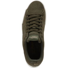 Thumbnail 5 of PUMA Vikky All-Over Suede Women's Sneakers, Forest Night-Metallic Bronze, medium