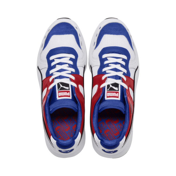 RS-100 Sound Men's Sneakers, Dazzlin Blu-HghRiskRed-White, large