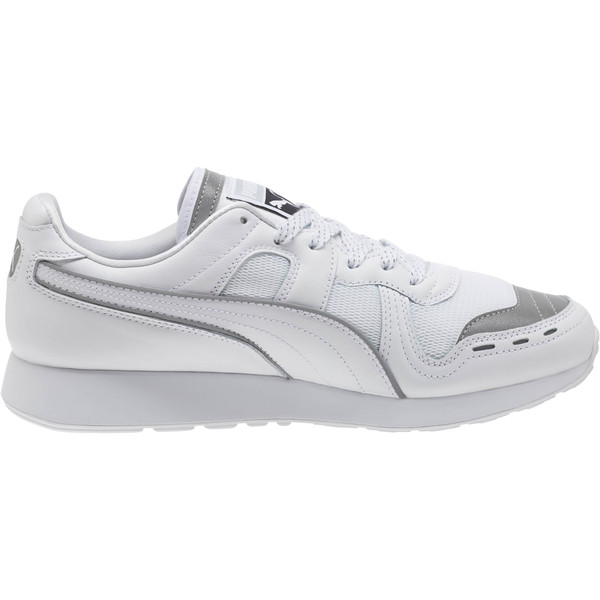 RS-100 Optic Men's Sneakers, P White-P Silver-Puma White, large