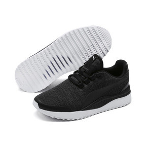 Thumbnail 2 of Pacer Next FS Knit Kids' Trainers, Puma Black-Puma Silver, medium