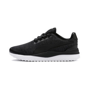 Thumbnail 1 of Pacer Next FS Knit Kids' Trainers, Puma Black-Puma Silver, medium