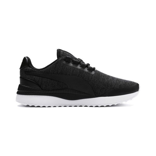 Pacer Next FS Knit Kids' Trainers, Puma Black-Puma Silver, large