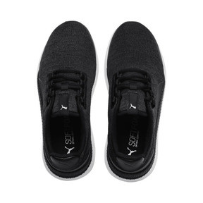 Thumbnail 6 of Pacer Next FS Knit Kids' Trainers, Puma Black-Puma Silver, medium