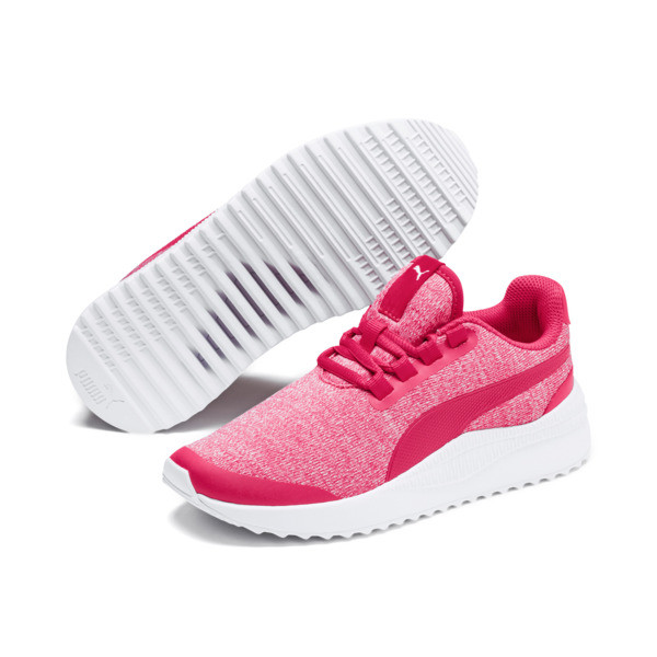 Pacer Next FS Knit Kinder Sneaker, Nrgy Rose-Puma White, large
