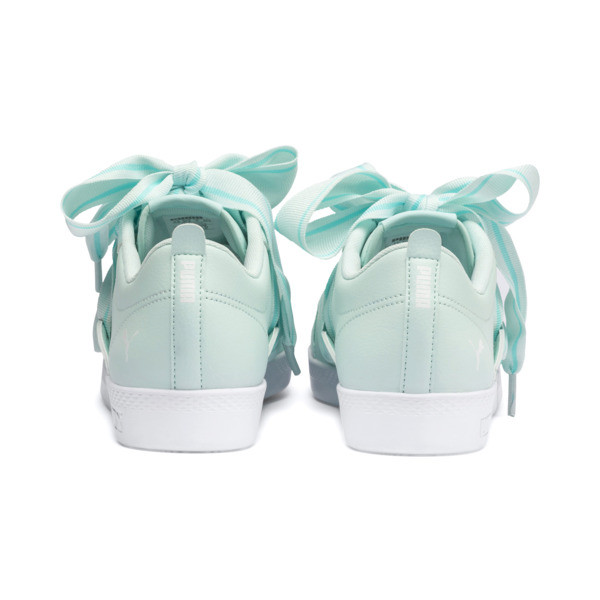 PUMA Smash Women's Buckle Sneakers, Fair Aqua-Puma White, large