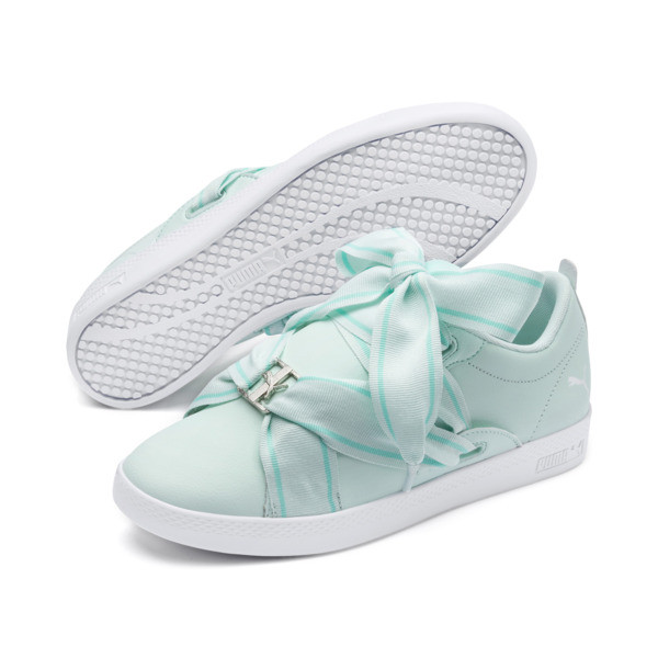 PUMA Smash Women's Buckle Sneakers, Fair Aqua-Puma White, large