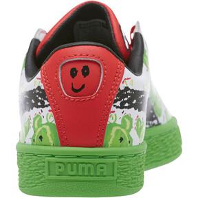 Thumbnail 4 of Basket Cactus Monster JR Sneakers, Poinsettia-Green-White, medium