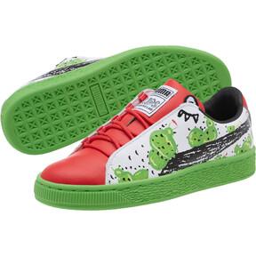 Thumbnail 2 of Basket Cactus Monster JR Sneakers, Poinsettia-Green-White, medium