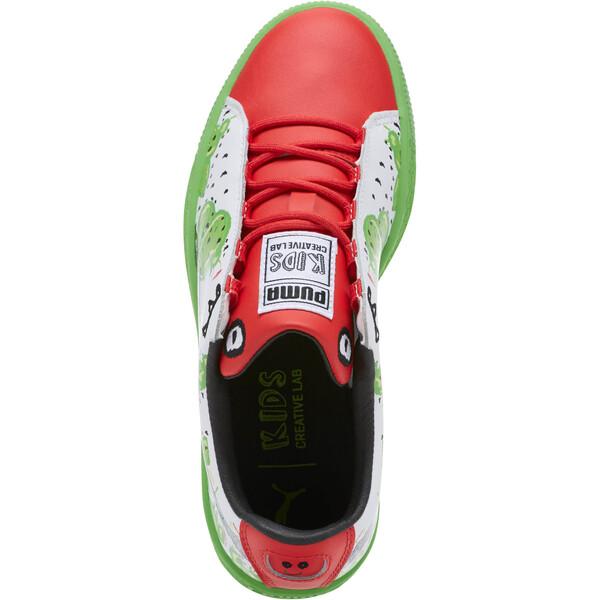 Basket Cactus Monster JR Sneakers, Poinsettia-Green-White, large