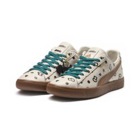 Thumbnail 2 of PUMA x TYAKASHA Clyde Graphic Sneakers, Birch, medium