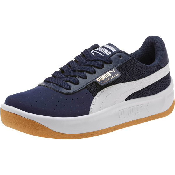 California Casual Sneakers JR, Peacoat-Puma White- Gold, large