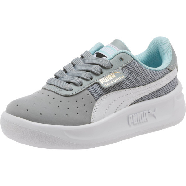 California Casual Sneakers PS, Quarry-Puma White- Gold, large