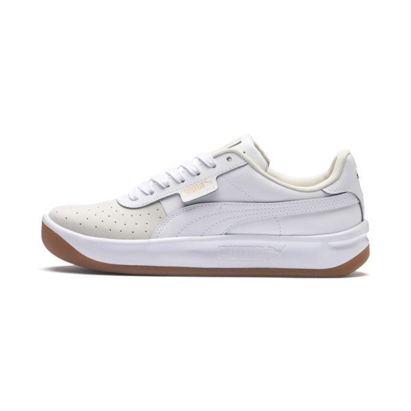 California Exotic Women's Sneakers, Whisper White- White- Gold, large