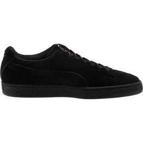 Thumbnail 3 of Suede Hyper Embroidered Women's Sneakers, Puma Black-Puma Team Gold, medium