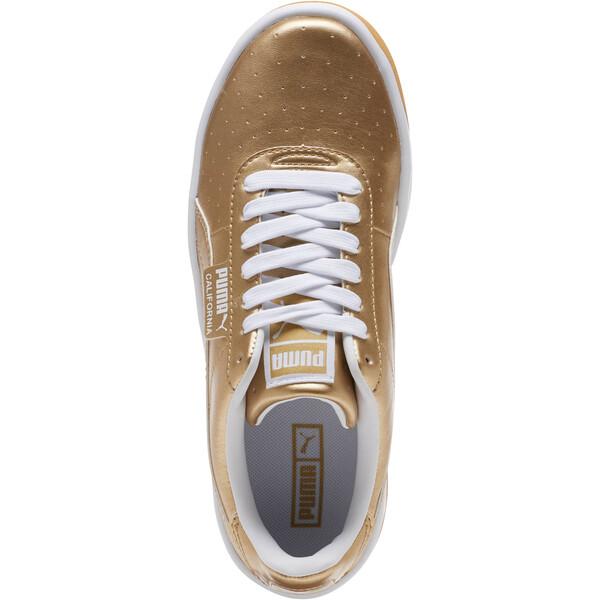 California Metallic Sneakers JR, Puma Team Gold-Puma White, large