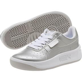Thumbnail 2 of California Metallic Sneakers PS, Silver-Puma White, medium