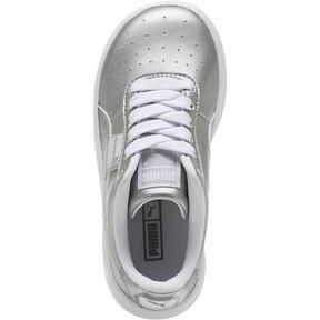 Thumbnail 5 of California Metallic Sneakers PS, Silver-Puma White, medium