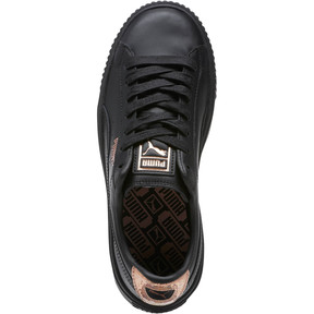 Thumbnail 5 of Basket Platform RG Women's Sneakers, Puma Black-Rose Gold, medium