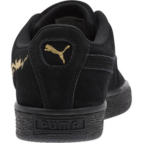 Thumbnail 4 of Suede Dragon JR Sneakers, Puma Black-Metallic Gold, medium