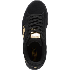 Thumbnail 5 of Suede Dragon JR Sneakers, Puma Black-Metallic Gold, medium