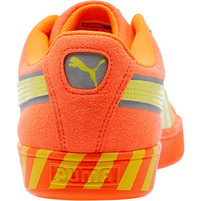 Thumbnail 4 of Puma Hazard Orange Suede Sneakers, Shocking Orange-Lemon Tonic, medium
