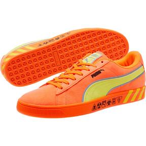 Thumbnail 2 of Puma Hazard Orange Suede Sneakers, 01, medium