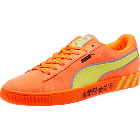 Thumbnail 1 of Puma Hazard Orange Suede Sneakers, Shocking Orange-Lemon Tonic, medium