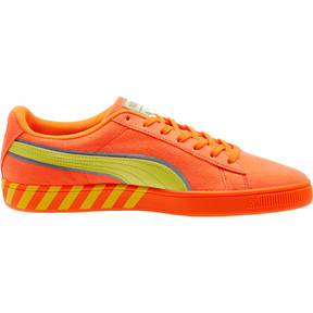 Thumbnail 3 of Puma Hazard Orange Suede Sneakers, Shocking Orange-Lemon Tonic, medium