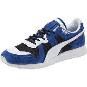 Thumbnail 1 of RS-100 Nubuck Sneakers, Black-Sodalite Blue-White, medium