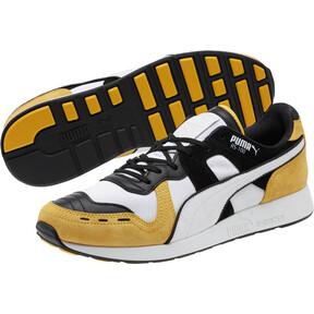 Thumbnail 2 of RS-100 Nubuck Sneakers, White-Yellow-Puma Black, medium