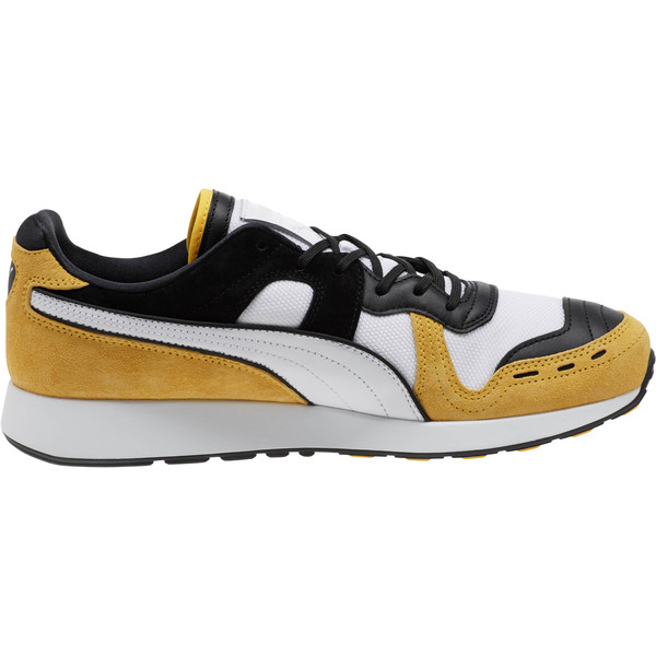 RS-100 Nubuck Sneakers, White-Yellow-Puma Black, large