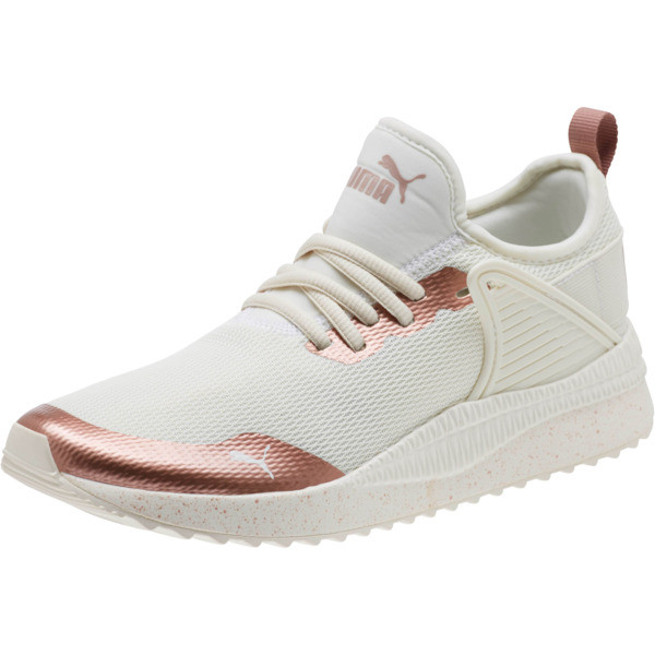 Pacer Nex tCage Metallic Speckle Women's Sneakers, Whisper White-Rose Gold, large