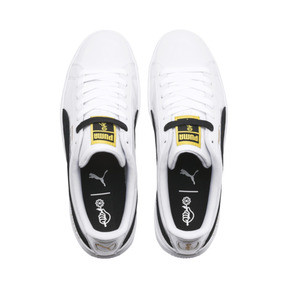 Thumbnail 6 of PUMA x BTS バスケット パテント, Puma White-Puma Black, medium-JPN