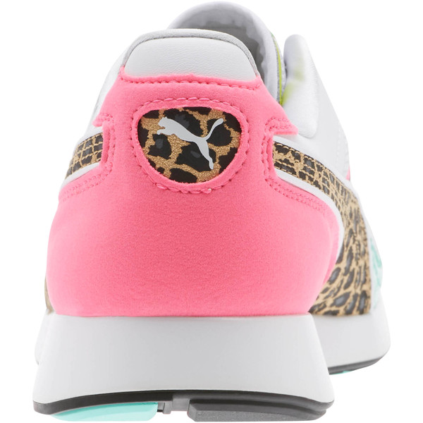 RS-100 Party Croc Sneakers, White- Green-KNOCKOUT PINK, large