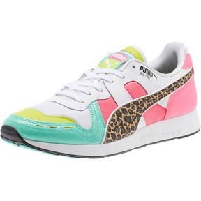 Thumbnail 1 of RS-100 Party Croc Sneakers, White- Green-KNOCKOUT PINK, medium