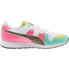 Thumbnail 3 of RS-100 Party Croc Sneakers, White- Green-KNOCKOUT PINK, medium