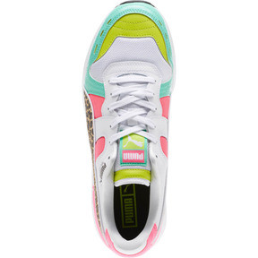 Thumbnail 5 of RS-100 Party Croc Sneakers, White- Green-KNOCKOUT PINK, medium