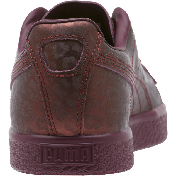 Clyde Sheer Animal Women's Sneakers, Fig-Puma Black, large