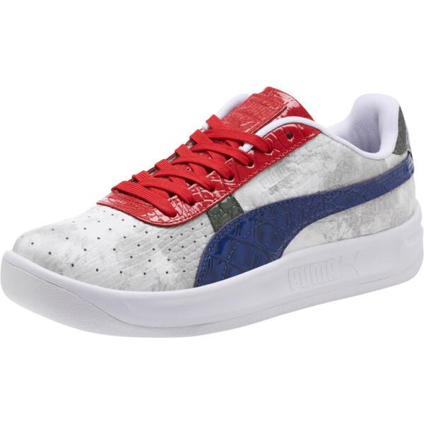 GV Special+ Gator White Men's Sneakers, Pma Wht-Sdlite Ble-Rbbn Rd, large