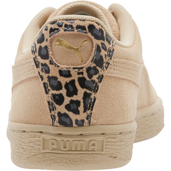 Suede Wild Women's Sneakers, Pebble- Gold-Puma Black, large