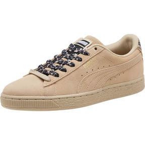 Thumbnail 1 of Suede Wild Women's Sneakers, Pebble- Gold-Puma Black, medium