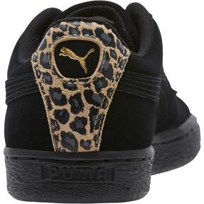 Thumbnail 4 of Suede Wild Women's Sneakers, Black- Gold-Pebble, medium